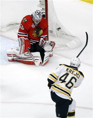 Corey Crawford, David Krejci