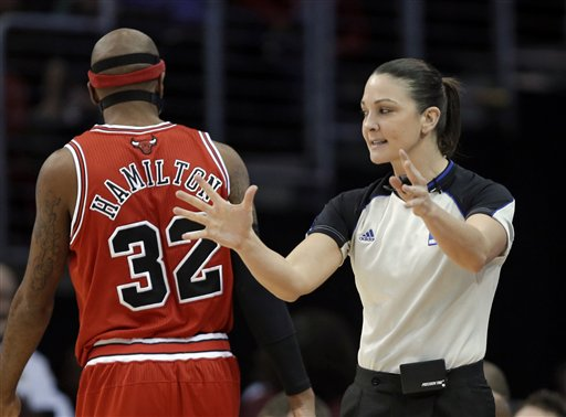 NBA Referee Lauren Holtkamp
