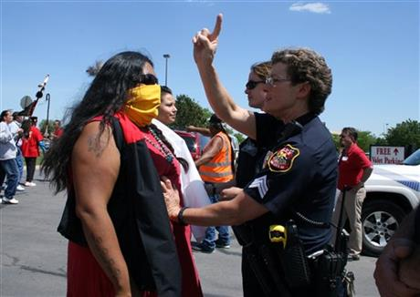 Tribal Rally Racism Dispute