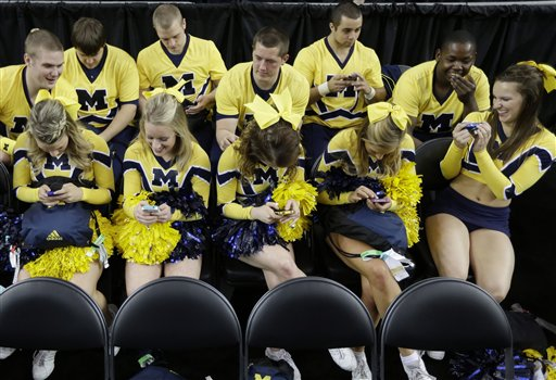 during practice in the NCAA Final Four tournament college basketball    Michigan Basketball Final Four