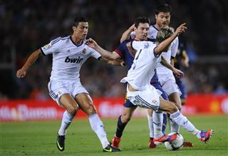 Lionel Messi, Fabio Coentrao, Cristiano Ronaldo
