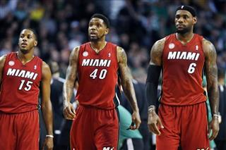 Mario Chalmers, Udonis Haslem, LeBron James