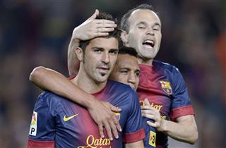 David Villa, Andres Iniesta, Alexis Sanchez