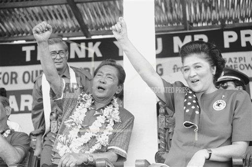 Watchf AP I   PHL APHS283689 President Ferdinand E. Marcos Wife  Imelda Campaigning