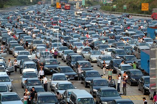 CHINA CONGESTION GRIDLOCK