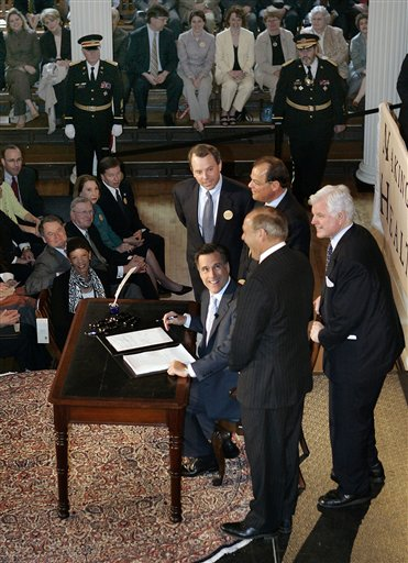 Mitt Romney, Timothy Murphy, Robert Travaglini, Edward Kennedy, Salvatore DiMasi