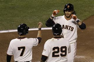 Brandon Crawford, Gregor Blanco, Hector Sanchez