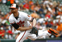 Baltimore Orioles starting pitcher Alex Cobb follows through on a pitch to the Boston Red Sox in the second inning of a baseball game, Sunday, Aug. 12, 2018, in Baltimore. (AP Photo/Patrick Semansky)