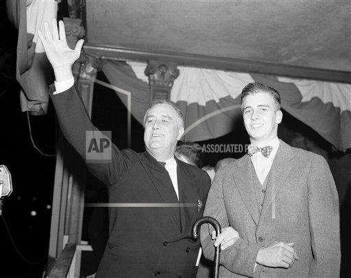 Watchf AP A  NY USA APHS329287 President Roosevelt and John Roosevelt