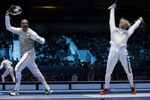 APTOPIX London Olympics Fencing Men