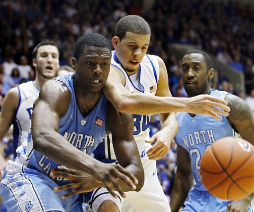Seth Curry, Justin Watts, Harrison Barnes