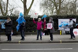 Britain Dolphin Protest