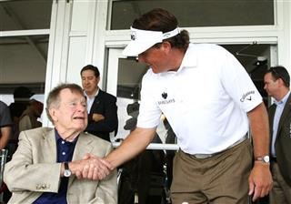 Phil Mickelson, President George H W Bush, Shell Houston Open