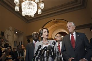 Nancy Pelosi, Steny Hoyer, James Clyburn, Sander Levin