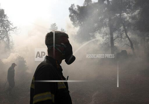 APTOPIX Greece Wildfires