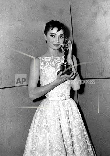 Associated Press Domestic News New York United States Entertainment, celebrities OSCARS AUDREY HEPBURN