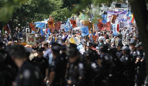 APTOPIX Democratic Convention Protests