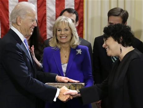 Sonia Sotomayor, Joe Biden, Jill Biden