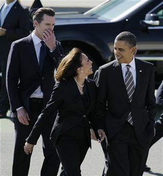 Barack Obama, Kamala Harris, Gavin Newsom