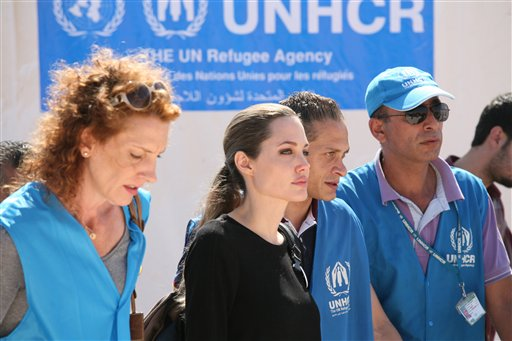 Mideast Jordan Syria Refuges Angelina Julie