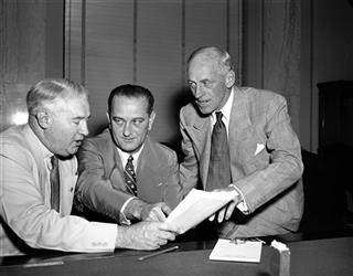 Lester Hunt, Lyndon Johnson, Millard Tydings