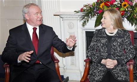 Hillary Rodham Clinton, Peter Robinson, Martin McGuinness