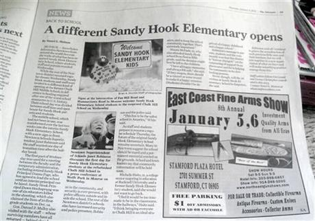 School Shooting Newspaper Ad
