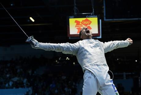 APTOPIX London Olympics Mens Fencing