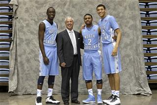 Theo Pinson, Joel Berry II, Austin Jackson, Roy Williams