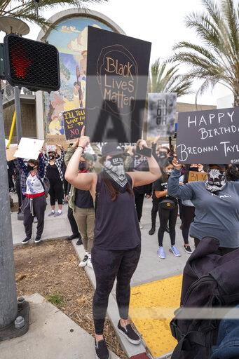 Black Lives Matter Protest in Long Beach, CA