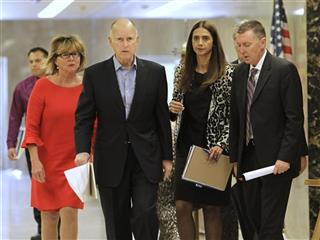 Mary Jane Burke, Jerry Brown, Thelma Melendez de Santa Ana, John Deasy