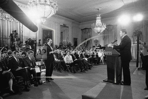 Watchf AP A  DC USA APHS265901 President Ronald Reagan  Michael Putzel  News Conference