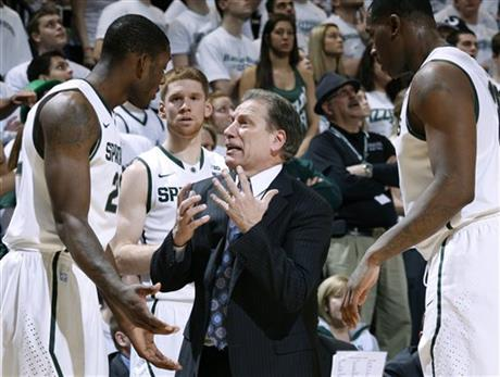 Tom Izzo, Branden Dawson, Derrick Nix