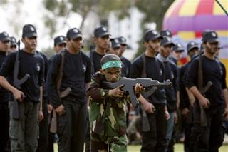 Mideast Palestinians Military School