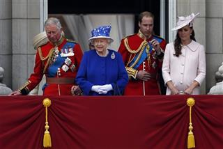 Queen Elizabeth, Prince Charles,  Duchess of Cambridge, Prince William