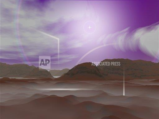 Creative AP T    horizontal Artist's concept of the atmosphere on Pluto.