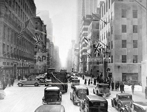 Associated Press Domestic News New York United States FLAGS ON FIFTH AVENUE
