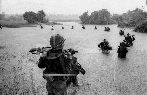 Associated Press International News Vietnam PARATROOPERS RAIN