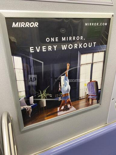 "Advertisements for the 'Mirror"" on the NYC Subway - 9/14/20"