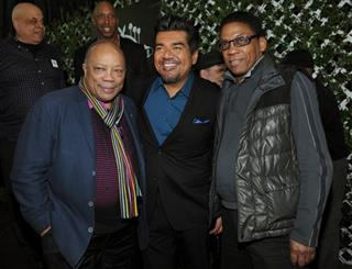 George Lopez, Quincy Jones, Herbie Hancock
