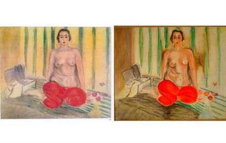 Odalisque In Red Pants