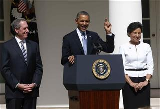 Barack Obama, Penny Pritzker, Mike Froman