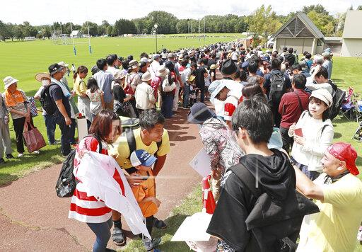 Training camp for Rugby World Cup in Japan