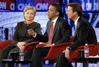 Hillary Rodham Clinton, John Edwards, Barack Obama
