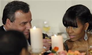 Michelle Obama, Chris Christie
