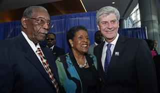 Phil Bryant, Myrlie Evers-Williams, Charles Evers