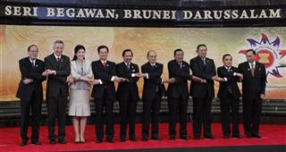 Benigno Aquino III, Lee Hsien Loong, Yingluck Shinawatra, Nguyen Tan Dung, Hassanal Bolkiah, Thein Sein, Hun Sen, Susilo Bambang Yudhoyono, Thongsing Thammavong, Abu Zahar Ujang