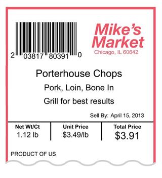 Food-Meat Labels