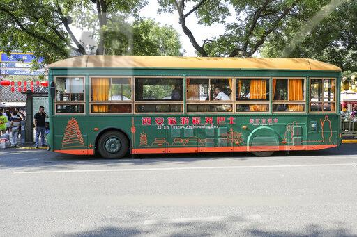 CHINA CHINESE SHAANXI XI'AN OLD-FASHIONED BUS TRANSPORTATION