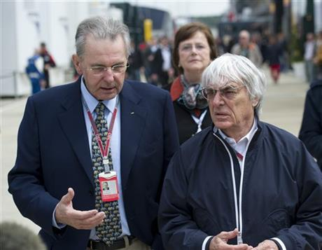 Jacques Rogge, Bernie Ecclestone